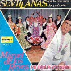 Dischi in vinile: MIGUEL DE LOS REYES Y SU BALLET DE ARTE ESPAÑOL . SEVILLANAS SINGLE 1971 MARFER NUEVO . Lote 8463543