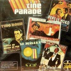 Discos de vinilo: CINE PARADE- PEPE LE MOKO, LES VISITEURS DU SOIR, NAPLES AU BAISER DE FEU ETC.. LP DOBLE FRANCIA . Lote 8471440