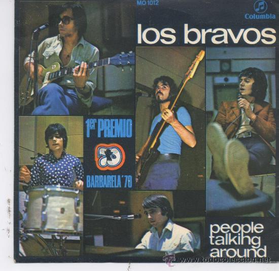 LOS BRAVOS,PEOPLE TALKING AROUND,DEL 70 (Música - Discos - Singles Vinilo - Grupos Españoles de los 70 y 80)