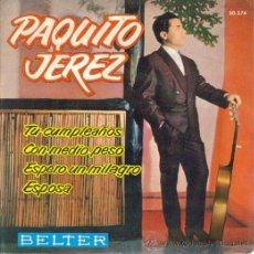 Discos de vinilo: PAQUITO JEREZ : EP 1962 BELTER , NUEVO. Lote 8514625