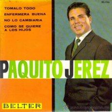 Discos de vinilo: PAQUITO JEREZ : EP 1963 BELTER , NUEVO. Lote 8525948