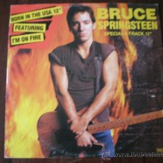 Discos de vinilo: BRUCE SPRINGSTEEN - I'M ON FIRE, ROSALITA, BORN IN THE USA, JOHNNY BYE-BYE - (UK-CBS-1985) MAXI LP. Lote 26509941