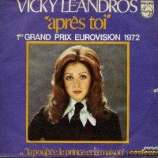 Disques de vinyle: VICY LEANDROS - APRES TOI . Lote 8595617