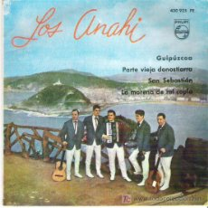 Discos de vinilo: LOS ANAHI - GUIPUZCUA + 3 EP **PHILIPS 1963 RARO. Lote 12759824
