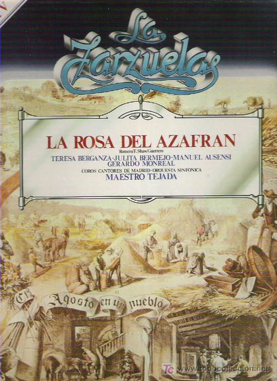LA ZARZUELA - LA ROSA DE AZAFRAN *** NUM 3 (Música - Discos - LP Vinilo - Clásica, Ópera, Zarzuela y Marchas)