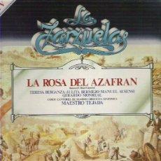 Discos de vinilo: LA ZARZUELA - LA ROSA DE AZAFRAN *** NUM 3. Lote 8609186