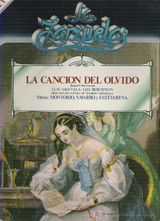 LA ZARZUELA - LA CANCION DEL OLVIDO NUM 8 1979 (Música - Discos - LP Vinilo - Clásica, Ópera, Zarzuela y Marchas)