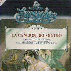 Discos de vinilo: LA ZARZUELA - LA CANCION DEL OLVIDO NUM 8 1979. Lote 8609196