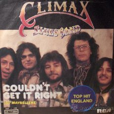 Discos de vinilo: CLIMAX BLUES BAND --- COULDN´T GET IT RIGHT. Lote 8618980