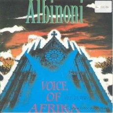 Discos de vinilo: VOICE OF AFRIKA - ALBINONI - SINGLE PROMOCIONAL ESPAÑOL DE 1991. Lote 8641394