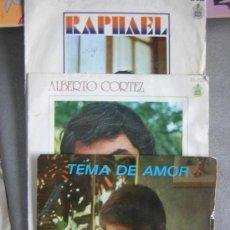Discos de vinilo: CUATRO DISCOS, RAFAEL, ALBERTO CORTEZ Y TON JONES. Lote 26515541