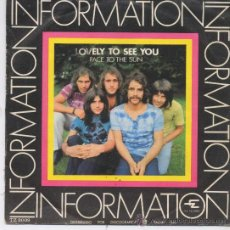 Discos de vinilo: INFORMATION,LOVELY TO SEE YOU,DEL 70. Lote 8679994
