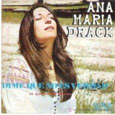 Discos de vinilo: ANA MARIA DRACK - DIME QUE NO ES VERDAD / NO QUIERO TENER AMORES *** GMA 1973. Lote 12044524
