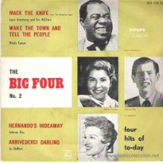 Discos de vinilo: THE BIG FOUR Nº . 2 - LUIS ANSTRONG AND HIS ALL STAR / MINDY CARSON / JOHN RAY / JO STAFFORD. Lote 12029368
