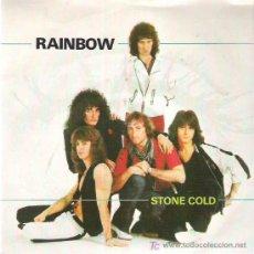 Discos de vinilo: RAINBOW - STONE COLD / ROCK FEVER ** POLYDOR 1982. Lote 12148809