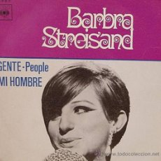 Discos de vinilo: BARBRA STREISAND: PEOPLE (GENTE) + MY MAN (MI HOMBRE), SINGLE, CBS, 1970. Lote 26782333
