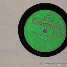Discos de vinilo: LOS CHIMBEROS :PASODOBLE ORGULLO ESPAÑOL + VALS CRIOLLO CLAVEL DE AMOR. Lote 16289581
