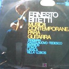 Discos de vinilo: ERNESTO BITETTI:MUSICA CONTEMPORANEA PARA GUITARRA/ LP /1965. Lote 12985444