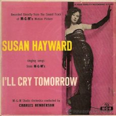 Discos de vinilo: SUSAN HAYWARD EP SELLO MGM EDITADO EN USA DEL FILM MAÑANA LLORARE.. Lote 8928855