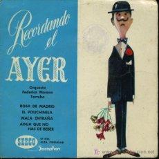 Discos de vinilo: ORQUESTA FEDERICO MORENO TORROBA - ROSA DE MADRID / EL POLICHINELA / MALA ENTRAÑA - EP 1961. Lote 15988362