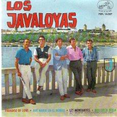 Discos de vinilo: LOS JAVALOYAS - PARADISE OF LOVE **** EP*** EMI 1964. Lote 12777840