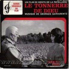 Discos de vinilo: GEORGES GARVARENTZ OST LE TONNERRE DE DIEU MOVIE WITH MICHELE MERCIER EP FRANCE. Lote 8966737