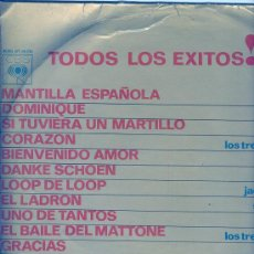 Discos de vinilo: TODOS LOS EXITOS CBS , VOL. 4 - 1964- ENRIQUE GUZMAN,CINCO LATINOS,JOHNNY DINAMO ETC.. Lote 26509446