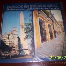 Discos de vinilo: LP ARGENTINO DE ARTISTAS VARIOS TANGOS EN BUENOS AIRES AÑO 1974. Lote 26355807