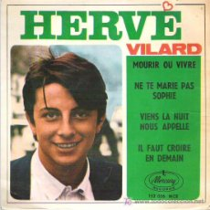Discos de vinilo: HERVE VILARD *** MORIR O VIVIR *** EP MERCURY 1966. Lote 11306081