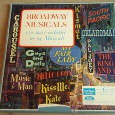 Discos de vinilo: BROADWAY MUSICALS (120 SUCCÉ-MELODIER UR 94 MUSICALS) CAJA DE 10LP USA 'OFERTA'. Lote 9149276