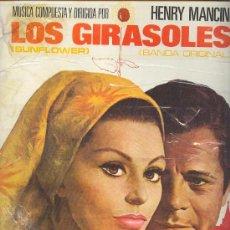 Discos de vinilo: LOS GIRASOLES-SUNFLOWER-LP BANDA SONORA ORIGINAL MUSICA HENRY MANCINI S.LOREN M.MASTROIANNI. Lote 11480576