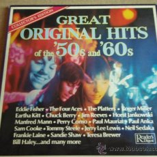 Discos de vinilo: GREAT ORIGINAL HITS '50S & '60S CAJA DE 9LP 'OFERTA'. Lote 58597618