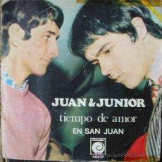 Discos de vinilo: JUAN & JUNIOR : TIEMPO DE AMOR; EN SAN JUAN. 1968. NOVOLA NOX 77. Lote 26576436