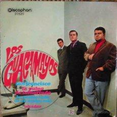 Discos de vinilo: LOS GUACAMAYOS : SAN FRANCISCO; LA PULPA DE TAMARINDO; LA ENAMORADA DE UN AMIGO MIO; OLVIDAR. 1967. Lote 26576437