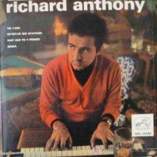 Discos de vinilo: RICHARD ANTHONY : TOI L'AMI; QU'EST-CE QUI M'ATTEND; FAUT QUE TU Y PENSES; MARIA. 1964. . Lote 9233836