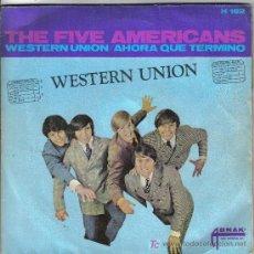 Discos de vinilo: THE FIVE AMERICANS. HISPAVOX. 1967. Lote 24786374