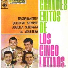 Discos de vinilo: LOS CINCO LATINOS - GRANDES EXITOS *** CBS 1963. Lote 147458781