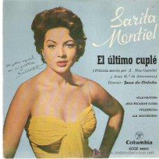 Discos de vinilo: SARITA MONTIEL *** CLAVELITOS ** EP -COLUMBIA. Lote 11550554