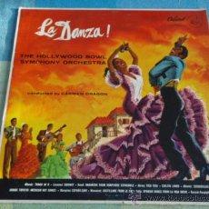Discos de vinilo: THE HOLLYWOOD BOWL SYMPHONY ORCHESTRA BY CARMEN DRAGON ( LA DANZA! ) USA LP33 CAPITOL. Lote 9279913