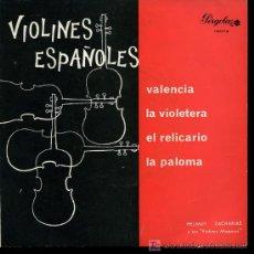Discos de vinilo: HELMUT ZACHARIAS - VALENCIA / LA VIOLETERA / EL RELICARIO / LA PALOMA - EP 1967. Lote 9290617