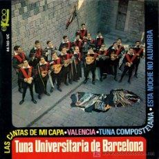 Discos de vinilo: TUNA UNIVERSITARIA DE BARCELONA - LAS CINTAS DE MI CAPA / VALENCIA / TUNA COMPOSTELANA - EP 1967. Lote 9303379