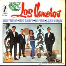 Discos de vinilo: LOS LLANEROS - AMARRADITOS / ALMA LLANERA / EXTRAVIO / PÁJARO CHOGÜI - EP 1965. Lote 11205021