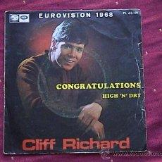 Discos de vinilo: CONGRATULATIONS (EUROVISION 1968). Lote 9306148