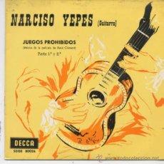 Discos de vinilo: NARCISO YEPES,JUEGOS PROHIBIDOS. Lote 9315334