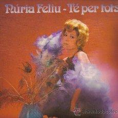 Discos de vinilo: LP NURIA FELIU CANTA TEMAS DE JAZZ Y STANDARS - TE PER TOTS. Lote 18466043