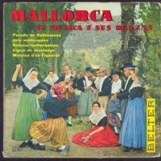 Discos de vinilo: ANTIGUO DISCO MALLORCA, SU MÚSICA Y SUS DANZAS. Lote 26468876