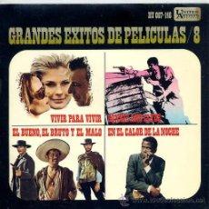 Discos de vinilo: EXITOS DE PELICULAS VOL 8 - LEROY HOLMES / BONNIE AND CLYDE - FRANCIS LAI / VIVRE POUR VIVRE (EP). Lote 13605615