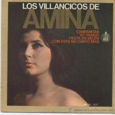 Discos de vinilo: AMINA,VILLANCICOS. Lote 9389054