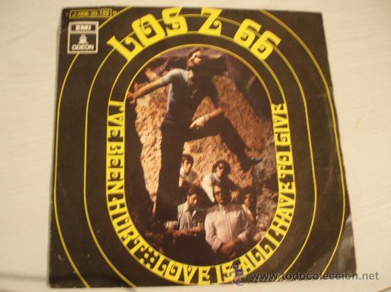 LOS Z 66. I´VE BEEN HURT + LOVE IS ALL HAVE TO GIVE. AÑO 1970. (Música - Discos - Singles Vinilo - Grupos Españoles de los 70 y 80)