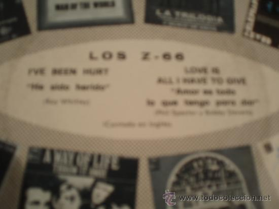 Discos de vinilo: LOS Z 66. I´VE BEEN HURT + LOVE IS ALL HAVE TO GIVE. Año 1970. - Foto 2 - 27043021